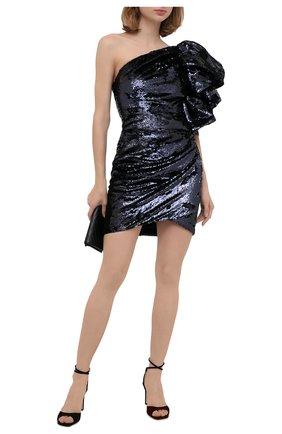 Женское платье с пайетками ALEXANDRE VAUTHIER синего цвета, арт. 203DR1335 1277-202 | Фото 2