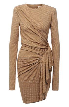 Женское платье из вискозы ALEXANDRE VAUTHIER золотого цвета, арт. 203DR1337B 1029C-203 | Фото 1