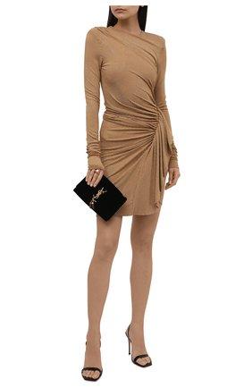 Женское платье из вискозы ALEXANDRE VAUTHIER золотого цвета, арт. 203DR1337B 1029C-203 | Фото 2