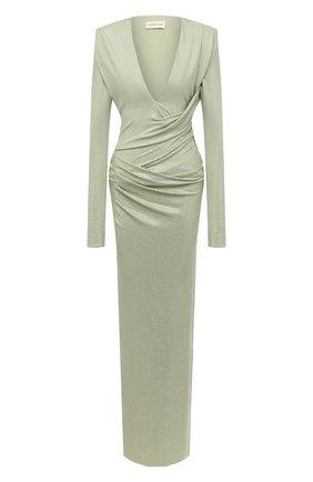 Женское платье из вискозы ALEXANDRE VAUTHIER зеленого цвета, арт. 203DR1340B 1029B-202   Фото 1
