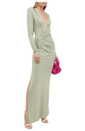 Женское платье из вискозы ALEXANDRE VAUTHIER зеленого цвета, арт. 203DR1340B 1029B-202   Фото 2