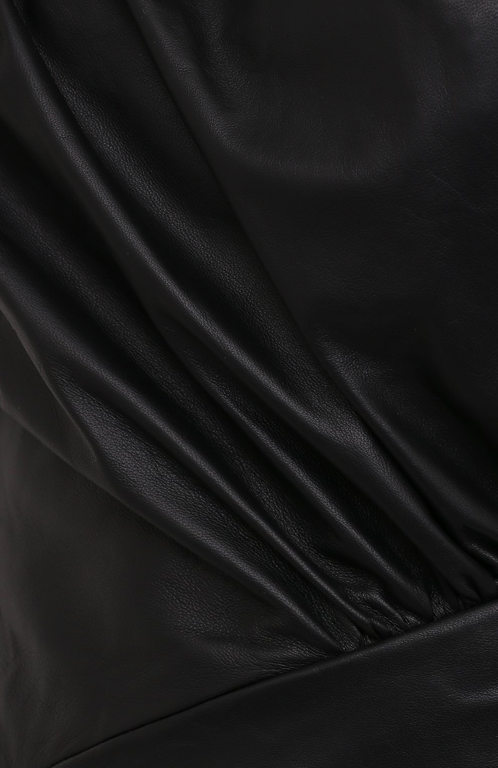 Женское кожаное платье ALEXANDRE VAUTHIER черного цвета, арт. 203LDR1300 0404 | Фото 5