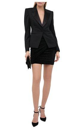 Женская юбка ALEXANDRE VAUTHIER черного цвета, арт. 203SK1304 1306-203   Фото 2