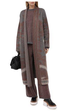 Женские шерстяные брюки TAK.ORI разноцветного цвета, арт. PTK70028WV083AW20 | Фото 2 (Длина (брюки, джинсы): Стандартные; Материал внешний: Шерсть; Женское Кросс-КТ: Брюки-одежда; Силуэт Ж (брюки и джинсы): Широкие; Стили: Кэжуэл)