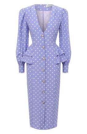 Женское шелковое платье ALESSANDRA RICH сиреневого цвета, арт. FAB2222-F2923 | Фото 1