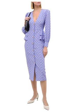 Женское шелковое платье ALESSANDRA RICH сиреневого цвета, арт. FAB2222-F2923 | Фото 2
