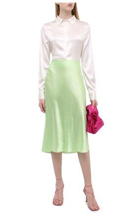 Женская юбка VINCE зеленого цвета, арт. V652930354 | Фото 2