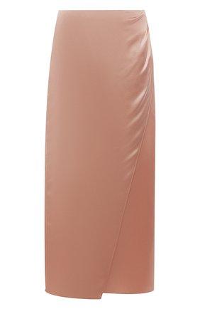 Женская шелковая юбка VINCE розового цвета, арт. V672830608   Фото 1
