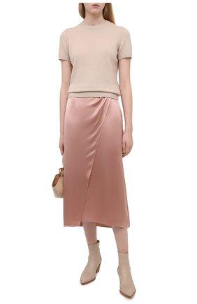 Женская шелковая юбка VINCE розового цвета, арт. V672830608   Фото 2