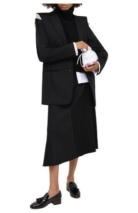 Женская юбка из вискозы и льна VINCE черного цвета, арт. V674930610 | Фото 2
