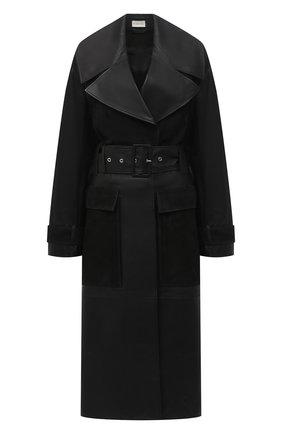 Женский кожаный тренч BY MALENE BIRGER черного цвета, арт. Q69563001/BRAZ0RIALA | Фото 1