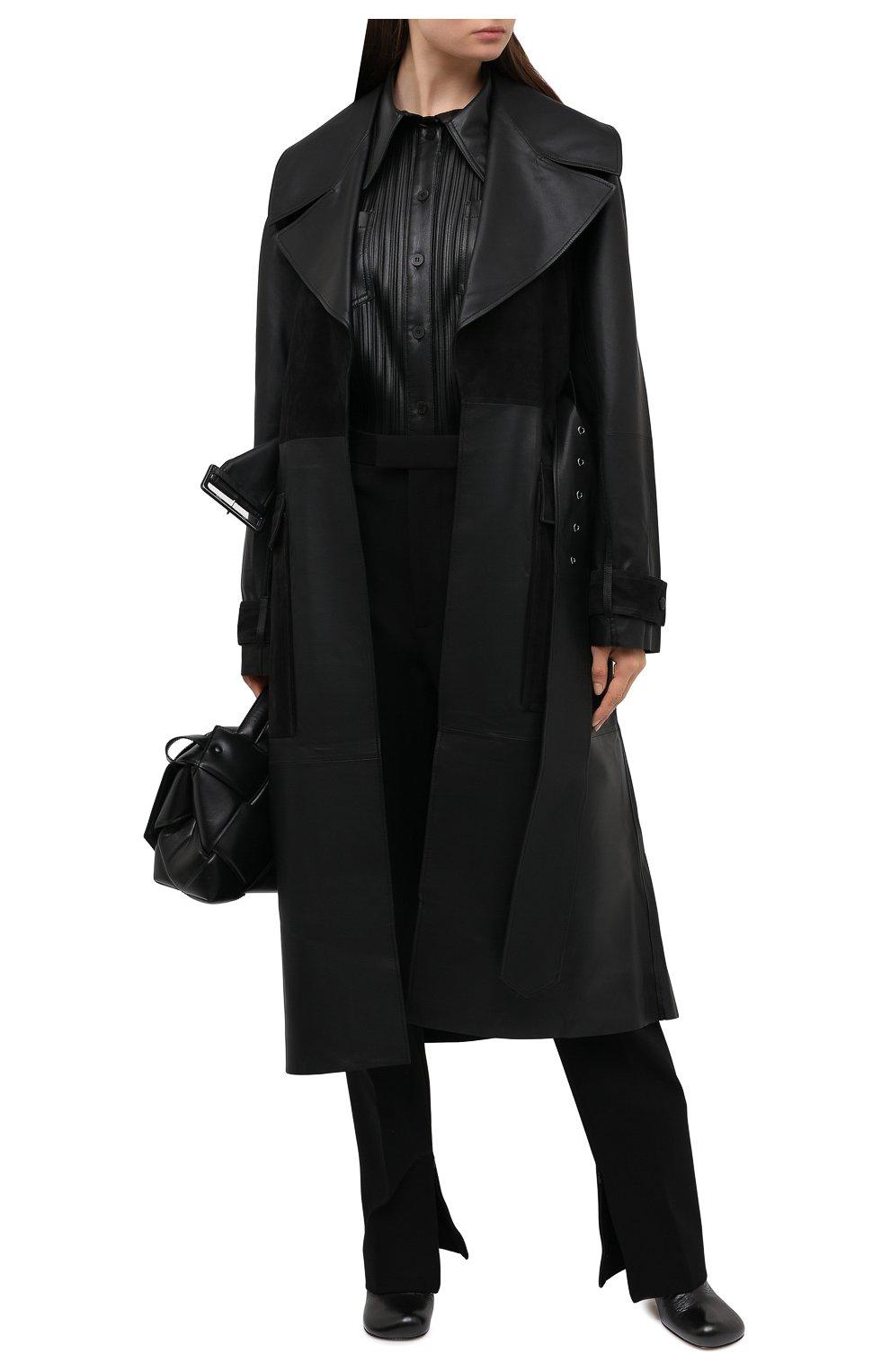 Женский кожаный тренч BY MALENE BIRGER черного цвета, арт. Q69563001/BRAZ0RIALA | Фото 2