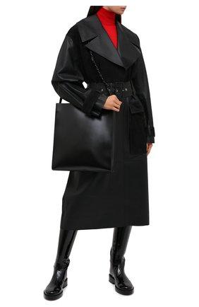 Женский кожаный тренч BY MALENE BIRGER черного цвета, арт. Q69563001/BRAZ0RIALA | Фото 3