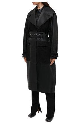 Женский кожаный тренч BY MALENE BIRGER черного цвета, арт. Q69563001/BRAZ0RIALA | Фото 4