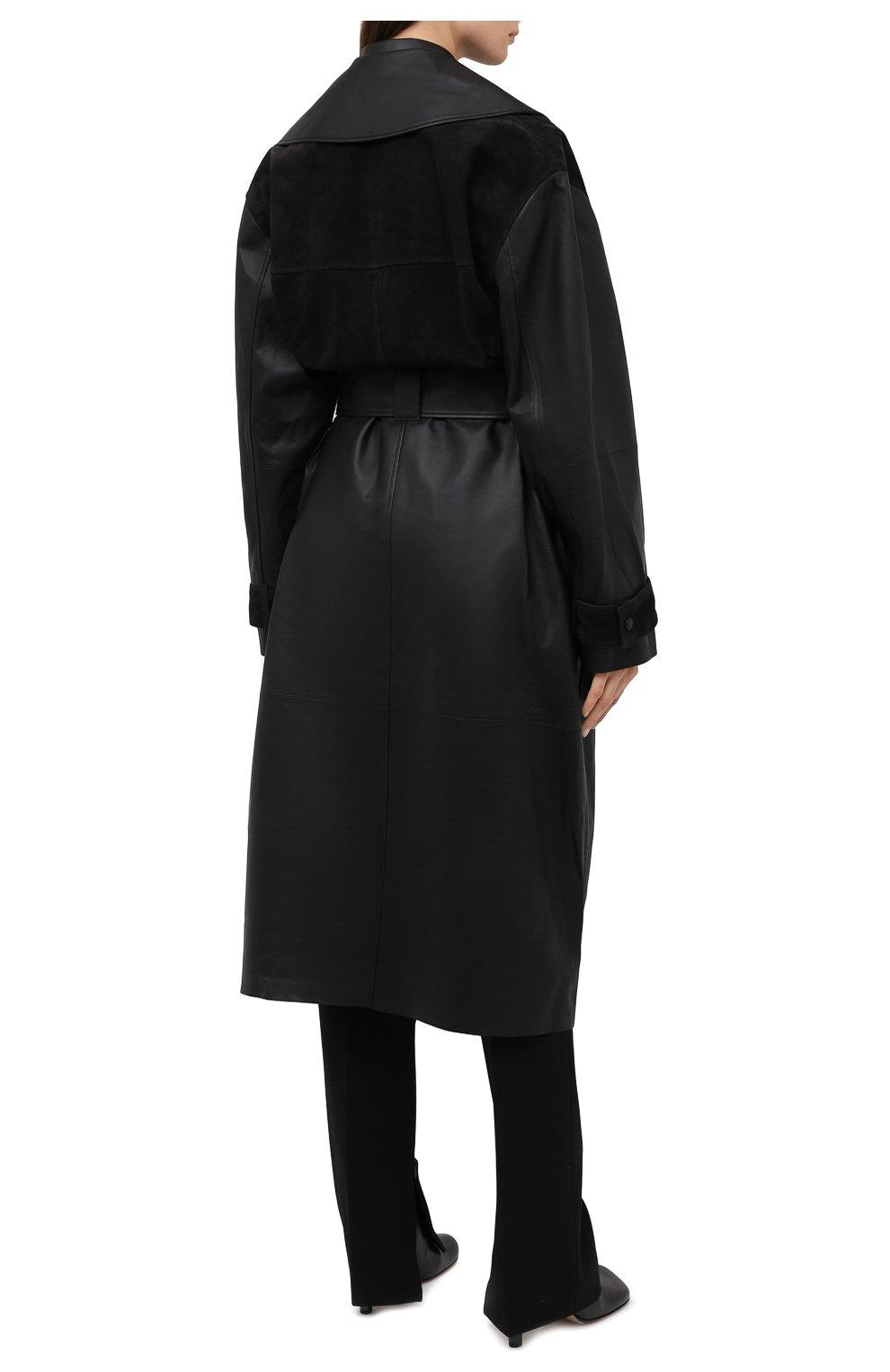 Женский кожаный тренч BY MALENE BIRGER черного цвета, арт. Q69563001/BRAZ0RIALA | Фото 5