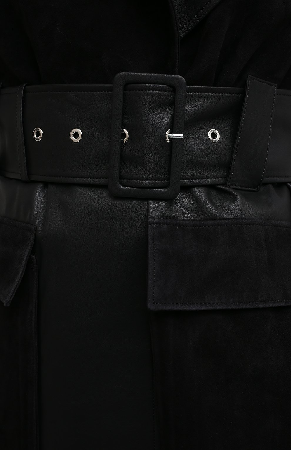 Женский кожаный тренч BY MALENE BIRGER черного цвета, арт. Q69563001/BRAZ0RIALA | Фото 6