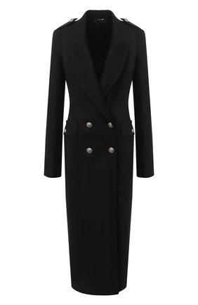 Женское шерстяное пальто ISABEL BENENATO черного цвета, арт. DW21F20   Фото 1