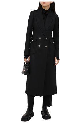 Женское шерстяное пальто ISABEL BENENATO черного цвета, арт. DW21F20   Фото 2