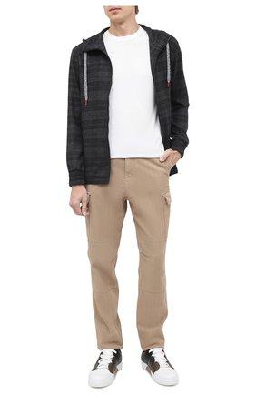 Мужские кожаные кеды tiziano ZEGNA COUTURE хаки цвета, арт. A2975X-LHSWI | Фото 2