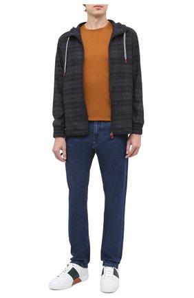 Мужские кожаные кеды ZEGNA COUTURE синего цвета, арт. A4138X-LHSPT | Фото 2