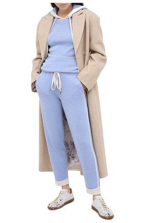 Женские кашемировые брюки MAX&MOI голубого цвета, арт. H20BASTIEN   Фото 2
