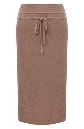 Женская юбка из шерсти и кашемира MAX&MOI коричневого цвета, арт. H20JANIS   Фото 1