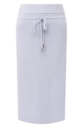 Женская юбка из шерсти и кашемира MAX&MOI голубого цвета, арт. H20JANIS   Фото 1