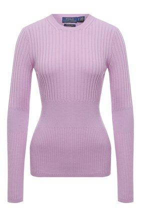 Женский шерстяной пуловер POLO RALPH LAUREN фиолетового цвета, арт. 211800210 | Фото 1