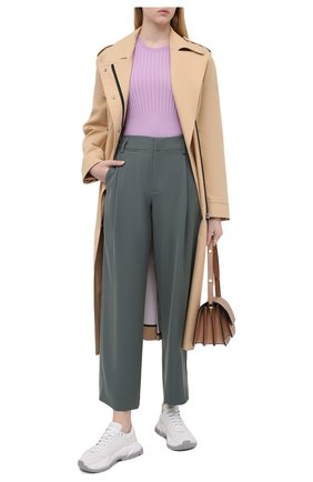 Женский шерстяной пуловер POLO RALPH LAUREN фиолетового цвета, арт. 211800210 | Фото 2