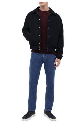 Мужской хлопковый джемпер POLO RALPH LAUREN бордового цвета, арт. 710775885 | Фото 2