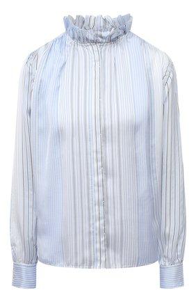 Женская блузка из вискозы и шелка FORTE_FORTE голубого цвета, арт. 7573 | Фото 1
