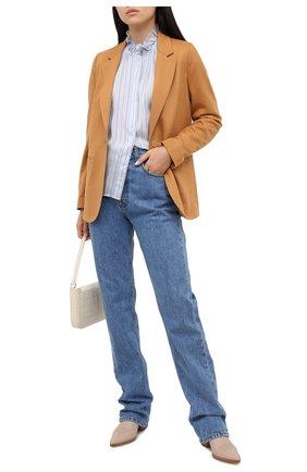 Женская блузка из вискозы и шелка FORTE_FORTE голубого цвета, арт. 7573 | Фото 2