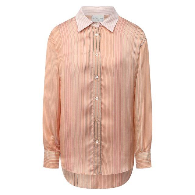 Рубашка из вискозы и шелка Forte_forte