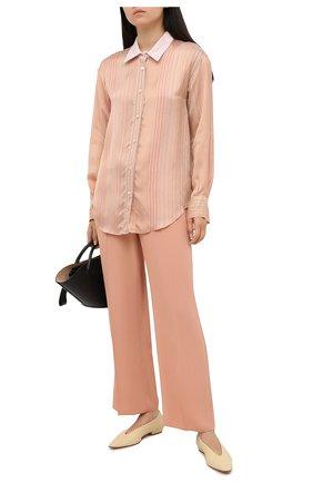Женская рубашка из вискозы и шелка FORTE_FORTE бежевого цвета, арт. 7572BIS | Фото 2