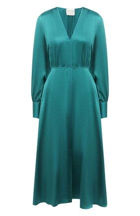Женское шелковое платье FORTE_FORTE бирюзового цвета, арт. 7558 | Фото 1
