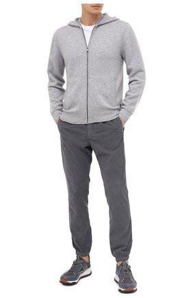 Мужской хлопковые джоггеры Z ZEGNA серого цвета, арт. VV113/ZZ346 | Фото 2