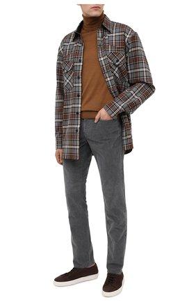 Мужской хлопковые брюки Z ZEGNA серого цвета, арт. VV763/ZZ530 | Фото 2