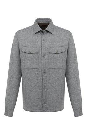 Мужская шерстяная рубашка Z ZEGNA серого цвета, арт. 805820/ZC0T2 | Фото 1