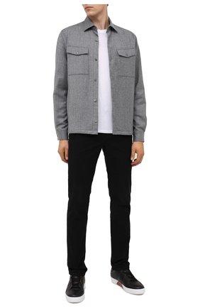 Мужская шерстяная рубашка Z ZEGNA серого цвета, арт. 805820/ZC0T2 | Фото 2
