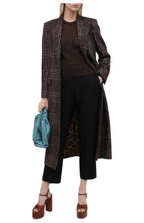 Женская пуловер из шерсти и вискозы DOLCE & GABBANA коричневого цвета, арт. FX955T/JAM7C | Фото 2