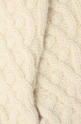 Женские шерстяные носки DOLCE & GABBANA белого цвета, арт. FC700A/G2UAZ   Фото 2