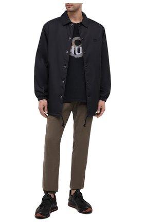 Мужская хлопковая футболка RHUDE черного цвета, арт. RHU08PF20008 | Фото 2
