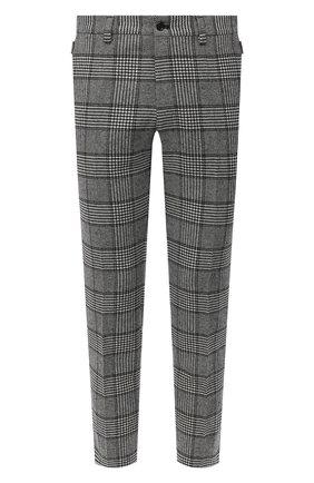 Мужские брюки DOLCE & GABBANA серого цвета, арт. GY6IET/FQRBP | Фото 1