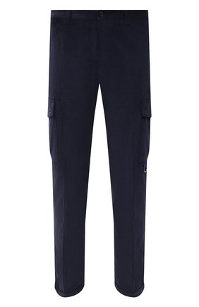 Мужские хлопковые брюки-карго DOLCE & GABBANA темно-синего цвета, арт. GWQ1ET/FUVK5   Фото 1