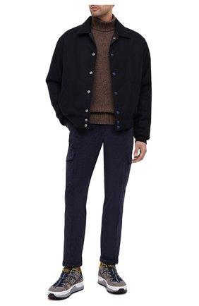 Мужские хлопковые брюки-карго DOLCE & GABBANA темно-синего цвета, арт. GWQ1ET/FUVK5   Фото 2