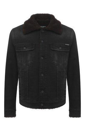 Мужская джинсовая куртка DOLCE & GABBANA темно-серого цвета, арт. G9JB5Z/G8C02 | Фото 1