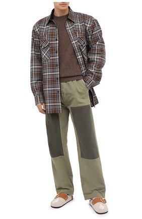Мужские текстильные сабо J.W. ANDERSON бежевого цвета, арт. AN35503A/12014   Фото 2