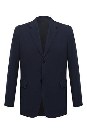 Мужской шерстяной пиджак JIL SANDER темно-синего цвета, арт. JSMR135001-MR202500   Фото 1