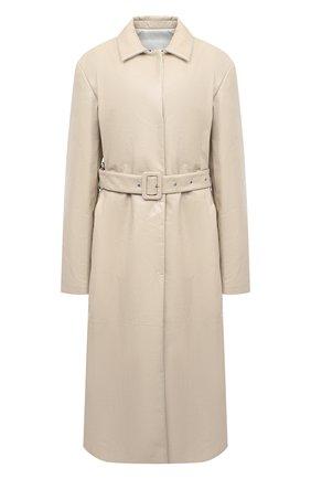 Женское кожаное пальто JIL SANDER бежевого цвета, арт. JSPR651071-WRL00002A | Фото 1