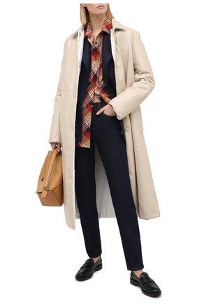 Женское кожаное пальто JIL SANDER бежевого цвета, арт. JSPR651071-WRL00002A | Фото 2